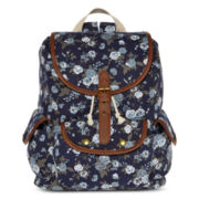 Olsenboye® Denim Floral Ditsy Print Backpack