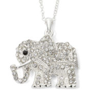 Decree® Silver-Tone Elephant Pendant Necklace