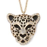 Decree® Gold-Tone Panther Pendant Necklace