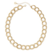 Monet® Gold-Tone Double Flat-Link Collar Necklace