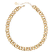 Monet® Gold-Tone Round Link Collar Necklace