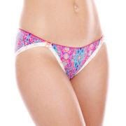 Cosmopolitan Lace-Trim Microfiber Bikini Panties