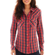 Levi's® Long-Sleeve Snap-Front Western Plaid Shirt