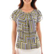 Liz Claiborne® Short-Sleeve Tulip Blouse