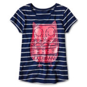 Arizona Graphic Stripe Short-Sleeve Tee - Girls 6-16 and Plus
