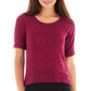 Olsenboye® Short-Sleeve High-Low Tee