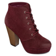 SM Roxy Lace-Up Ankle Booties