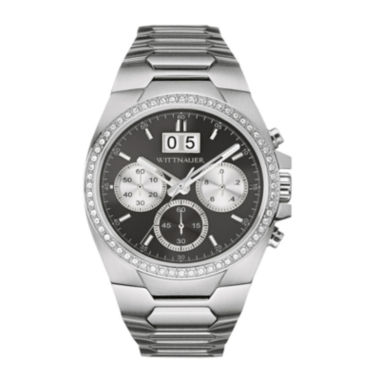 jcpenney.com | Wittnauer® Mens Crystal-Accent Gunmetal Dial Stainless Steel Watch WN3049