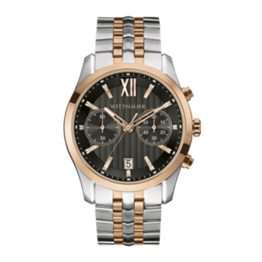 jcpenney.com | Wittnauer® Mens Two-Tone Stainless Steel Watch WN3035