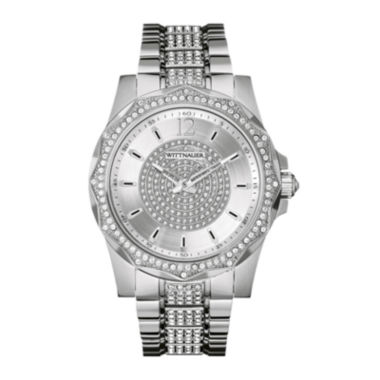 jcpenney.com | Wittnauer® Mens Crystal-Accent Stainless Steel Watch WN3013