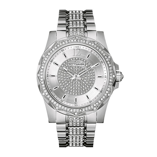 wittnauer® mens crystal accent stainless steel watch wn3013 jcpenney product description
