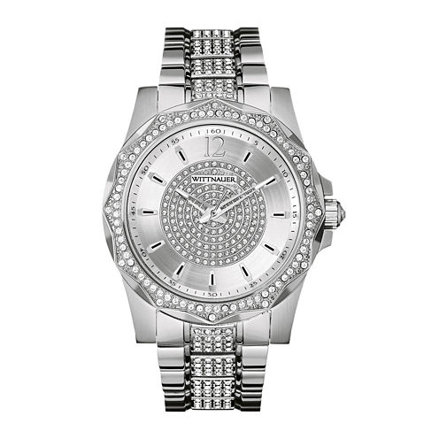 Wittnauer® Mens Crystal-Accent Stainless Steel Watch WN3013