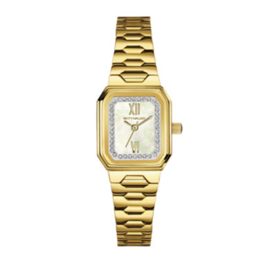 jcpenney.com | Wittnauer® Womens Crystal-Accent Rectangular Gold-Tone Stainless Steel Bracelet Watch WN4051
