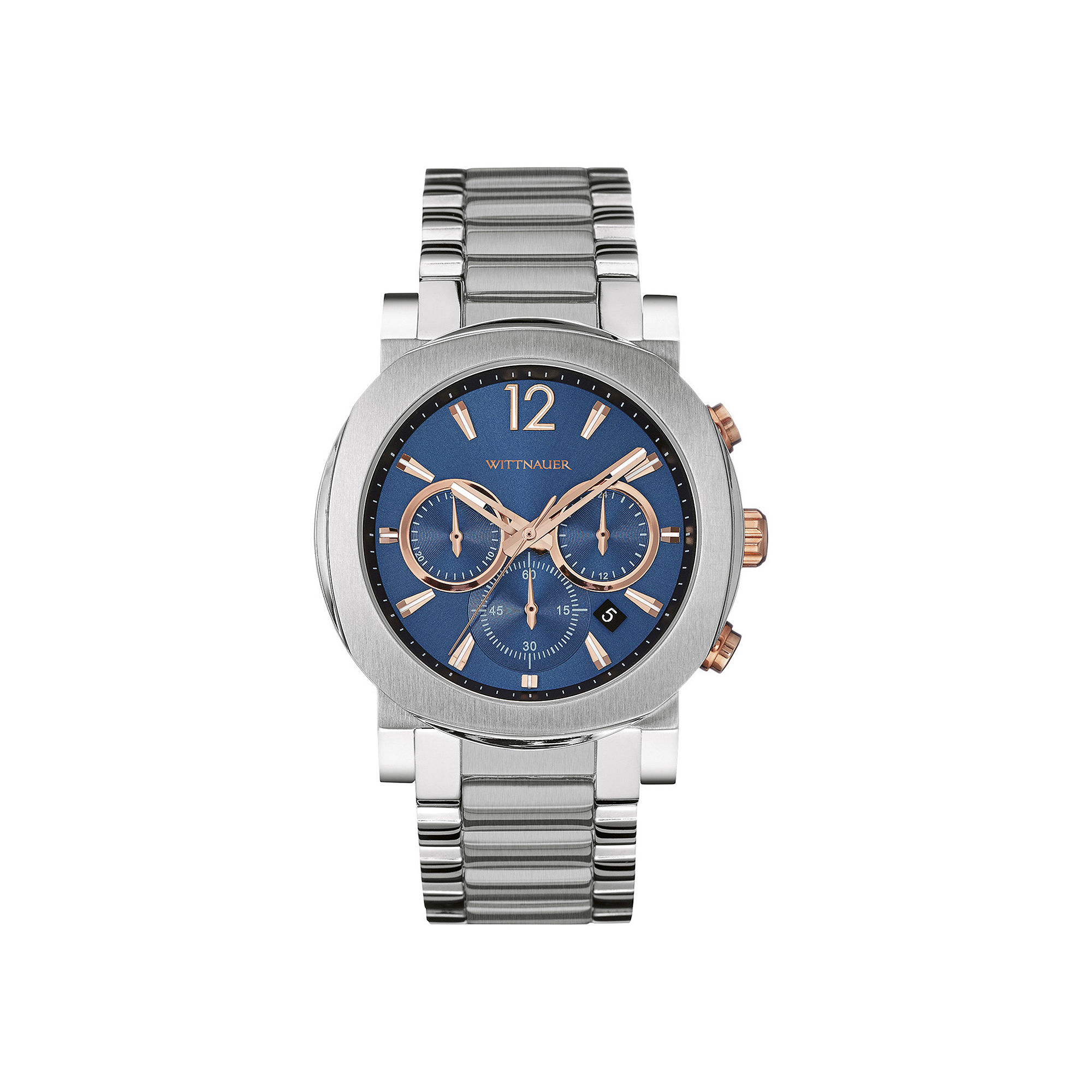 Wittnauer Mens Blue Dial Stainless Steel Watch WN3005