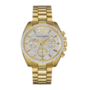 Wittnauer® Womens Crystal-Accent Gold-Tone Stainless Steel Bracelet Watch WN4043