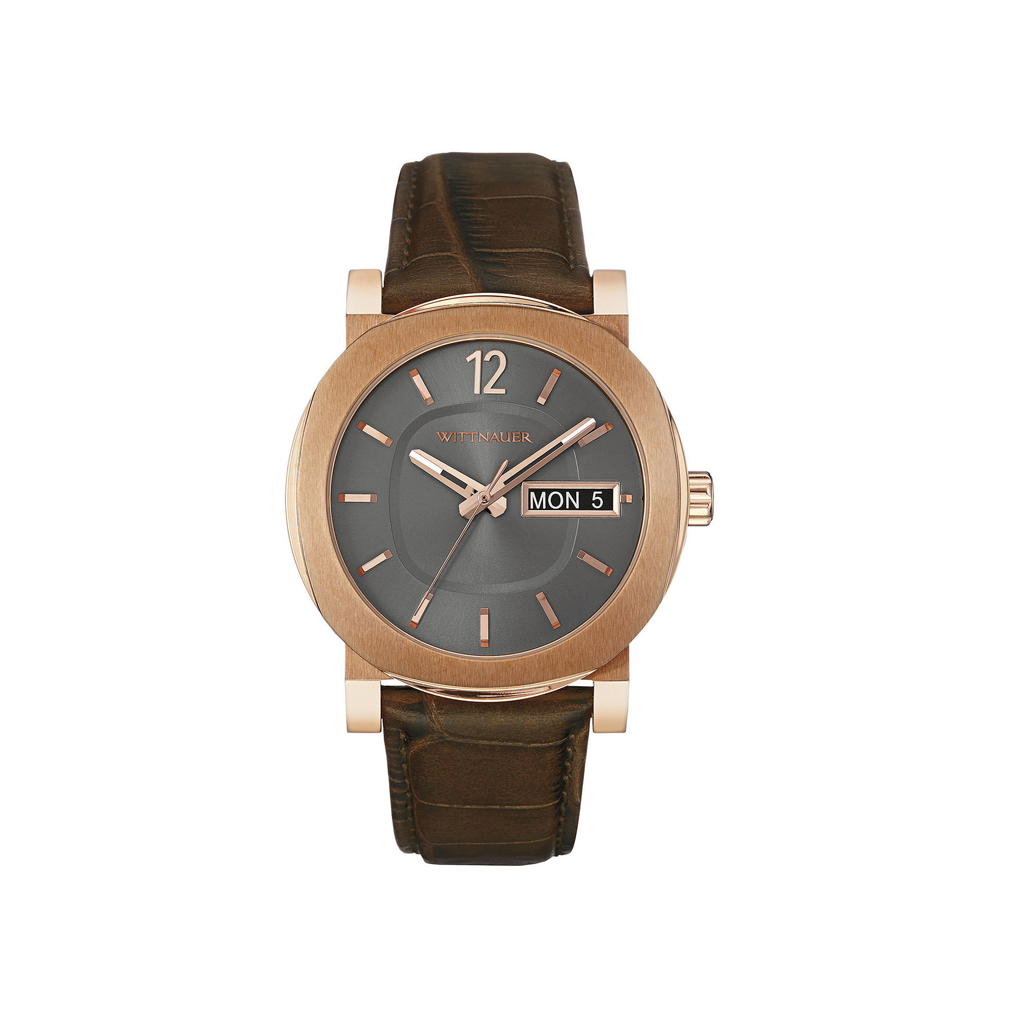 Wittnauer Mens Brown Leather Strap Watch WN1002