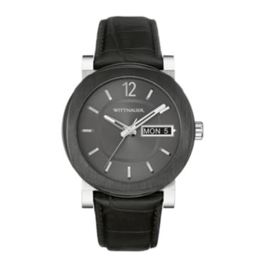 jcpenney.com | Wittnauer® Mens Black Leather Strap Watch WN1000