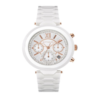 jcpenney.com | Wittnauer® Womens Crystal-Accent Two-Tone Stainless Steel Bracelet Watch WN4030
