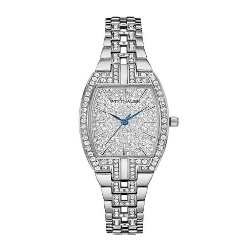 Wittnauer® Womens Crystal-Accent Tonneau Stainless Steel Bracelet Watch WN4016