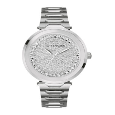 jcpenney.com | Wittnauer® Womens Crystal-Accent Stainless Steel Bracelet Watch WN4026
