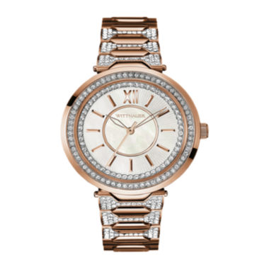 jcpenney.com | Wittnauer® Womens Crystal-Accent Two-Tone Stainless Steel Bracelet Watch WN4025