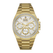 Wittnauer® Mens Crystal-Accent White Dial Gold-Tone Stainless Steel Watch WN3055