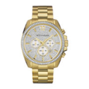 Wittnauer® Mens Crystal-Accent Gold-Tone Stainless Steel Watch WN3051