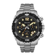 Bulova® Sea King Mens UHF Stainless Steel Sport Watch 98B244
