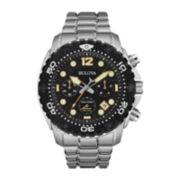 Bulova® Sea King Mens UHF Stainless Steel Sport Watch 98B244