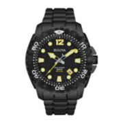 Bulova® Sea King Mens UHF Black Stainless Steel Sport Watch 98B242