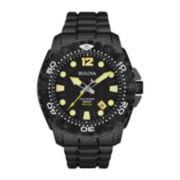 Bulova® Sea King Mens UHF Black Stainless Steel Sport Watch 98B242