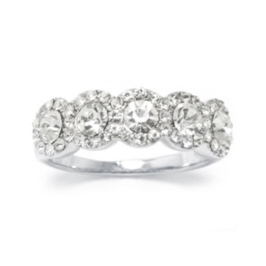 jcpenney.com | Crystal 5-Stone Silver-Plated Band Ring