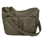 T-Shirt & Jeans™ Double-Pocket Convertible Hobo Bag