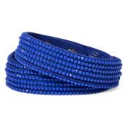 Arizona Blue Rhinestone Suede Bracelet