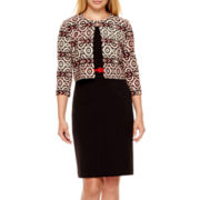 Danny & Nicole® 3/4-Sleeve Aztec Print Jacket Dress - Petite