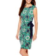 R&K Originals® Sleeveless Side-Tie Sheath Dress - Petite