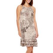 MSK Sleeveless Three-Tier Ruffled Dress - Petite