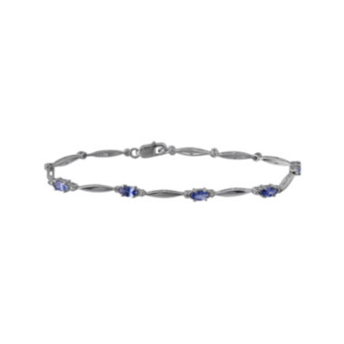 jcpenney.com | Genuine Tanzanite and Diamond-Accent Sterling Silver Bracelet
