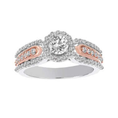 jcpenney.com | Lumastar 1 CT. T.W. Diamond 14K White and Rose Gold Engagement Ring