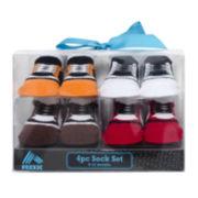 4-pk. Sneaker Socks - Baby Boys newborn-12m