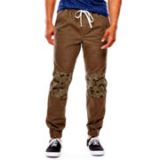 Arizona Flex Printed Colorblock Chino Jogger Pants