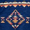 Indigo Aztec Print