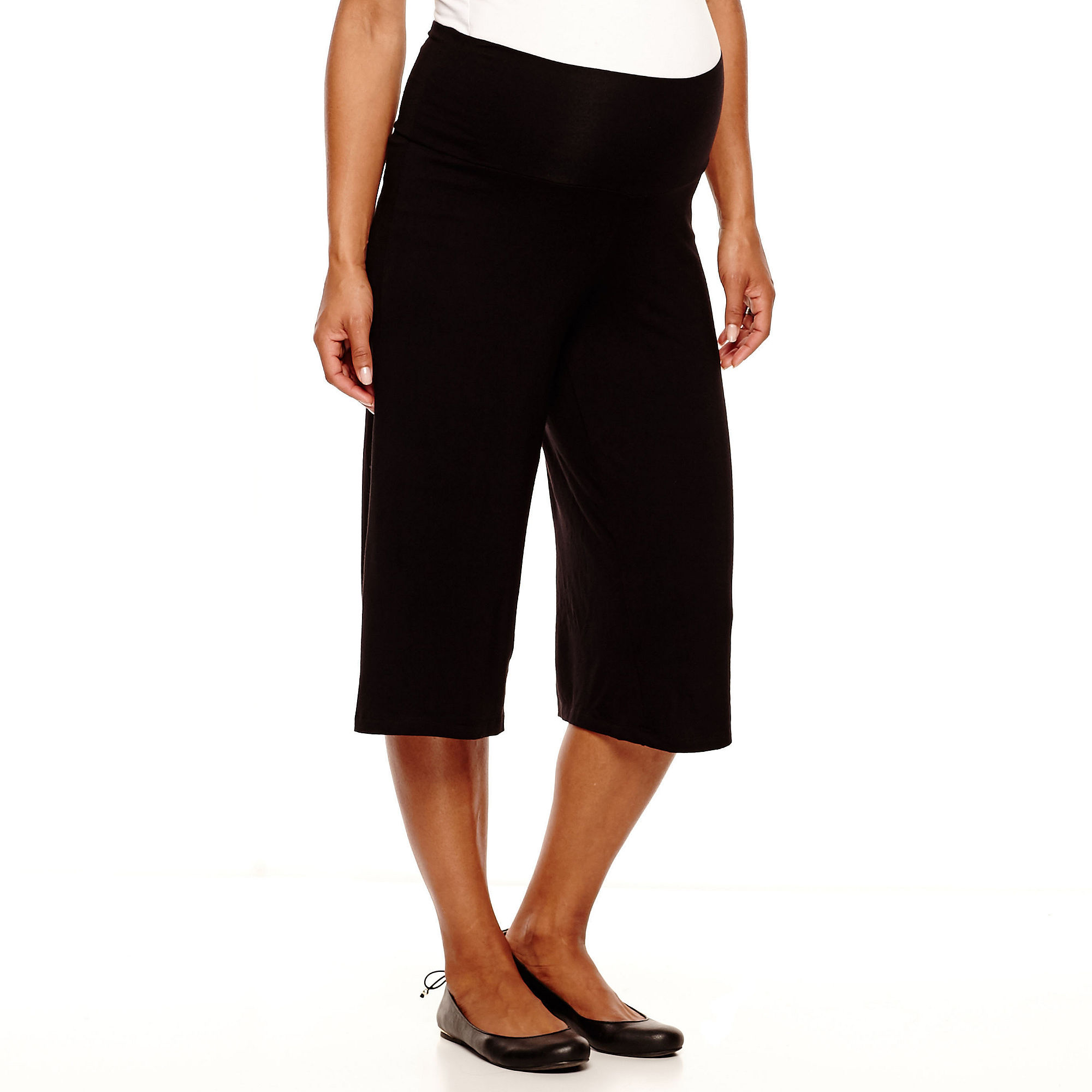 Maternity Knit Gaucho Pants - Plus plus size,  plus size fashion plus size appare