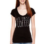 Short-Sleeve Coffee Graphic T-Shirt