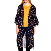 Arizona Bell-Sleeve Woven Duster - Plus