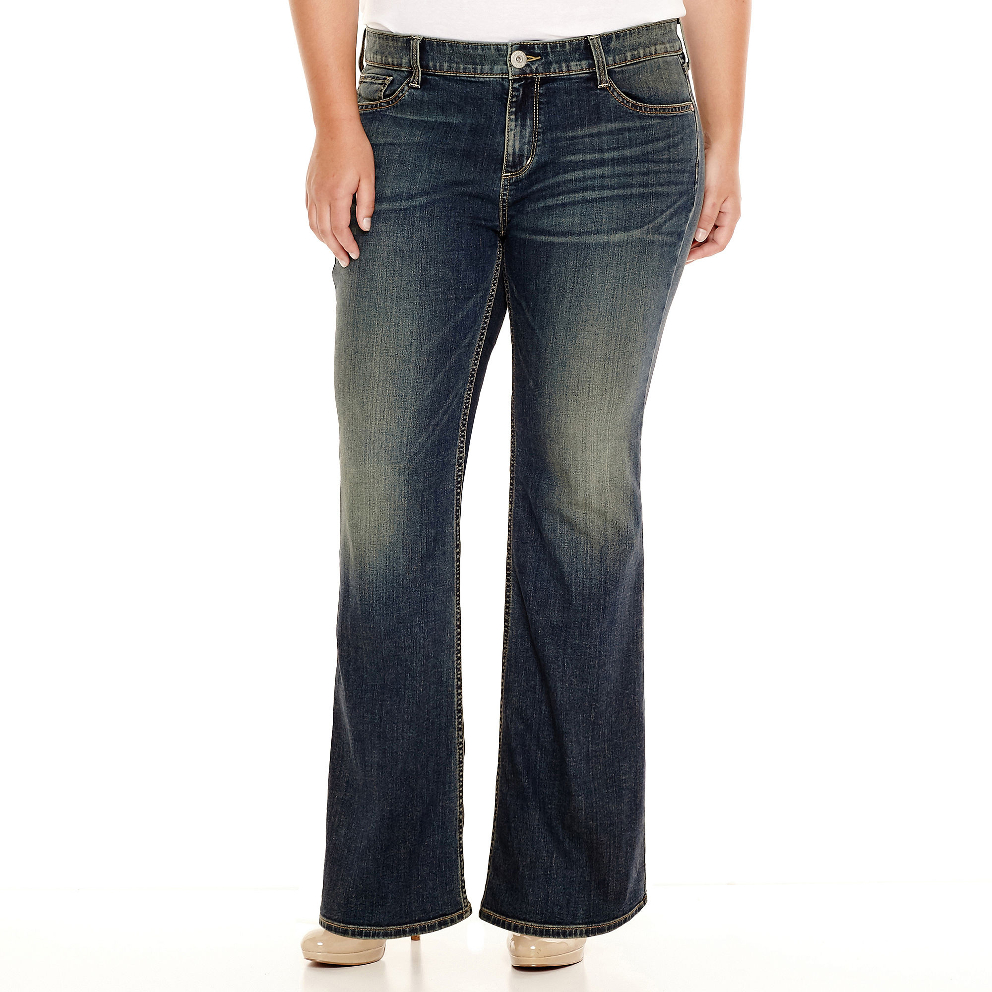 Arizona Bootcut Jeans - Juniors Plus plus size,  plus size fashion plus size appare