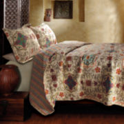 Greenland Home Fashions Esprit Spice Moroccan Quilt Set & Accessories
