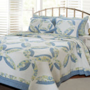 Greenland Home Fashions Francesca Wedding Ring Quilt Set
