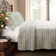 Greenland Home Fashions Jasmine Ruffled Quilt Set