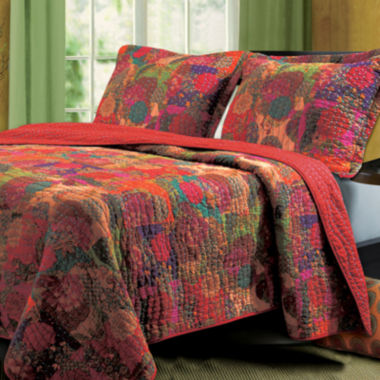 jcpenney.com | Greenland Home Fashions Jewel Bohemian Quilt Set & Accessories